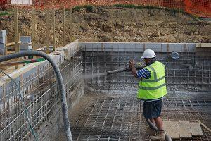 заливка бетонной чаши бассейна цена