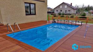 Скиммерный бассейн в поселке Агалатово