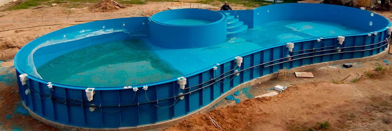 Строительство бассейна из полипропилена