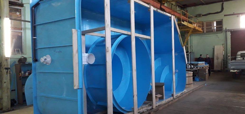 Продолжается строительство бассейна из полипропилена  в поселке Васкелово